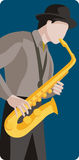 Musician illustration series. Vector illustration of a saxophone player. EPS file available Stock Images