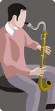 Musician illustration series Royalty Free Stock Photography