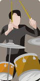 Musician illustration series. Vector illustration of a drummer. EPS file available Royalty Free Stock Photos