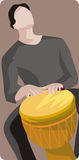 Musician illustration series. Vector illustration of a djembe drummer. EPS file available Stock Images
