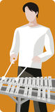Musician illustration series Royalty Free Stock Image