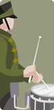 Musician illustration series. Vector illustration of a military drummer. EPS file available Royalty Free Stock Photos