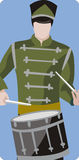 Musician illustration series. Vector illustration of a military drummer. EPS file available Stock Photo