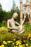 Musician image show at ChiangMai Public Garden. Royalty Free Stock Photo