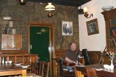 Musician at work in Irish pub, Temple Bar District,Dublin royalty free stock photos