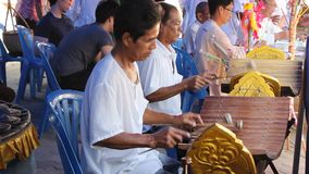 Musician of Kathina ceremony stock footage