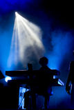 Musician on keyboard stock photos