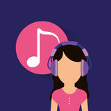 Musician listening melody. Icon vector illustration graphic design Royalty Free Stock Photos