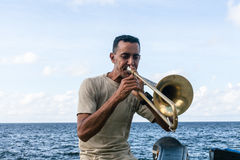 Musician at Malecon Royalty Free Stock Photos
