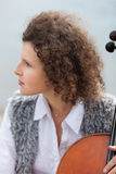 Musician outdoors, portrait Stock Images