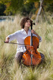 Musician outdoors, portrait Stock Photography