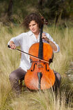 Musician outdoors, portrait Royalty Free Stock Images