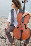 Musician outdoors, portrait Royalty Free Stock Photos