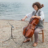 Musician outdoors, portrait Royalty Free Stock Photo