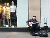 Musician in Oxford Street, London Stock Photography