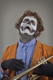 Musician Painted Face Royalty Free Stock Photos