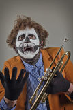 Musician Painted Face Stock Photography