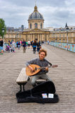 Musician in Paris Royalty Free Stock Images