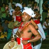 Musician participates the festival Pera Hera in Kandy Stock Image