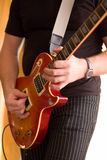 Musician play on guitar #1. Photo from my series about musicians Royalty Free Stock Photography