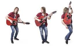 Musician play guitar on studio. A nice musician play guitar on studio Stock Photos
