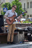 Musician play violin in Street Music Day Royalty Free Stock Photography
