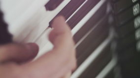 A musician playing the accordion - extreme close-up stock video footage