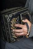 Musician playing the bandoneon Royalty Free Stock Photography