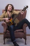Musician Playing Bass Guitar Royalty Free Stock Photo