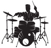 The musician playing drum setting Stock Photo
