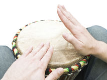 Musician playing drums royalty free stock images