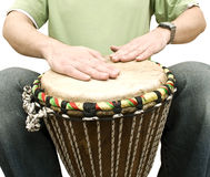 Musician playing drums Stock Photo