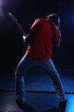 Musician playing electric guitar Stock Photo
