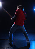 Musician playing electric guitar Royalty Free Stock Photography