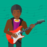 Musician playing electric guitar. Stock Photo