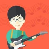 Musician playing electric guitar Stock Photos