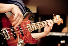 Musician playing a guitar Royalty Free Stock Images