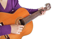 Musician playing the guitar. Royalty Free Stock Photo