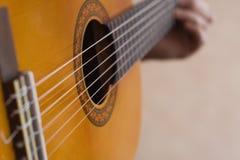 Musician playing guitar Royalty Free Stock Photos