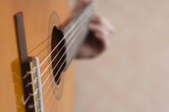 Musician playing guitar Royalty Free Stock Image