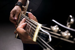Musician playing Royalty Free Stock Image