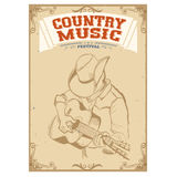 Musician playing guitar.Country music festival background for te Stock Photo