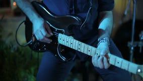 Musician playing guitar. stock video