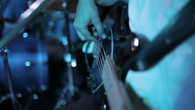 Musician playing guitar. stock footage