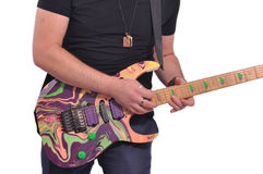 Musician playing a guitar Royalty Free Stock Photo