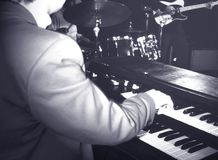 Musician playing hammond organ Stock Image