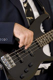 Musician playing an instrument Royalty Free Stock Photo