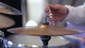 Musician playing the percussion instruments Royalty Free Stock Image