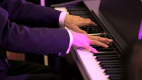 Musician Playing the Piano stock video