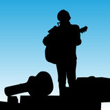 Musician Playing On Stage Royalty Free Stock Photography